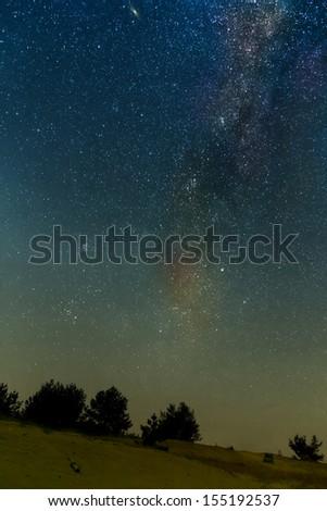 night desert scene - stock photo