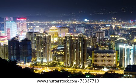 night if city - stock photo