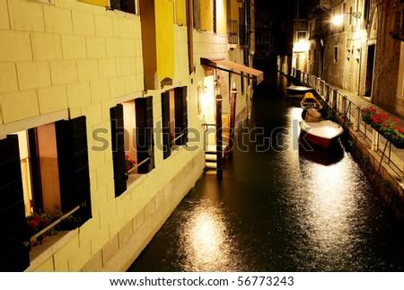 Night in Venice - stock photo