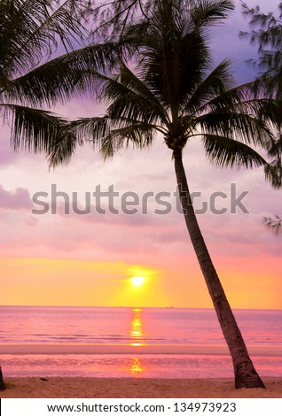 Night is Coming Bay View - stock photo