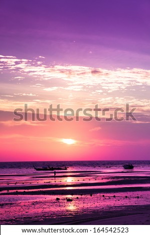 Night is Coming Burning Skies  - stock photo