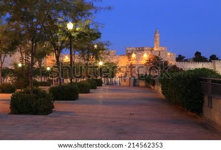 Night Jerusalem - stock photo