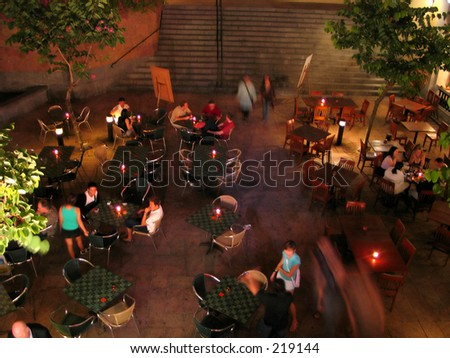 night life - stock photo