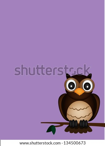 night of brown owl - stock photo