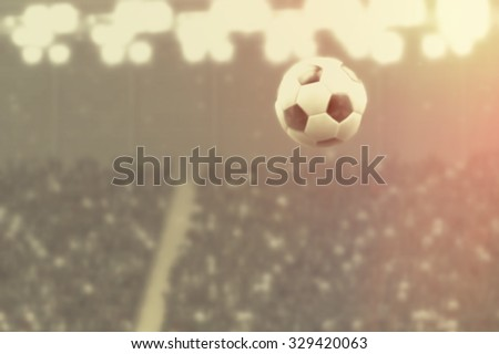 Night of Soccer, retro blurred image background - stock photo