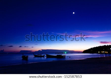 Night on the beach of Koh Lipe Island, Thailand. - stock photo