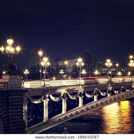 Night Paris - stock photo