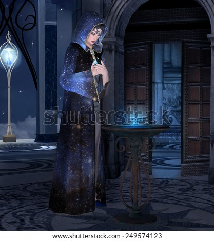 Night rite - stock photo