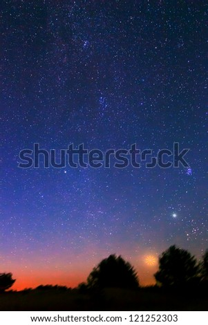 night scene - stock photo