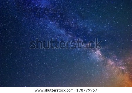 night scene sky background - stock photo