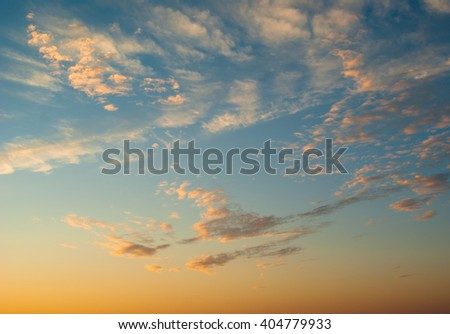 Night sky as natural background - stock photo