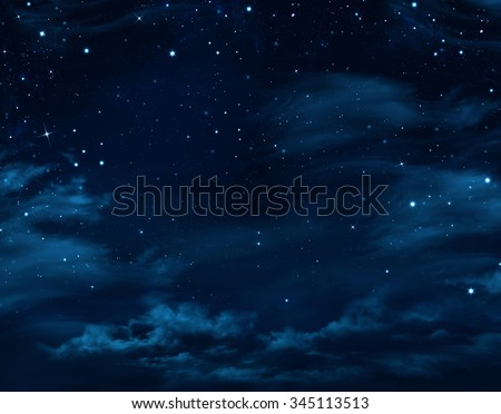 night sky, starry background - stock photo
