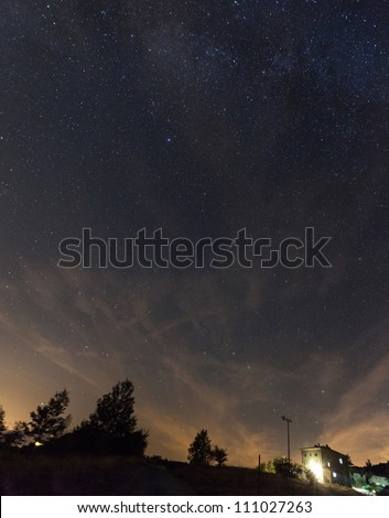 Night Sky View - stock photo