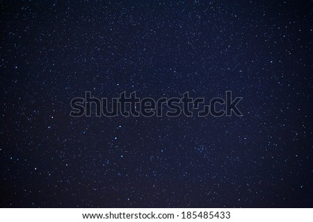 Night sky with lot of shiny stars - stock photo
