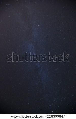 Night sky with lot of shiny stars - stock photo