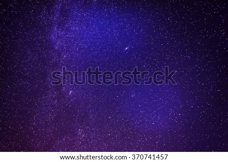 Night sky with lot of shiny stars, natural abstract astro background - stock photo