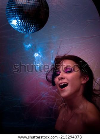 Night Smiling Clubbing  - stock photo