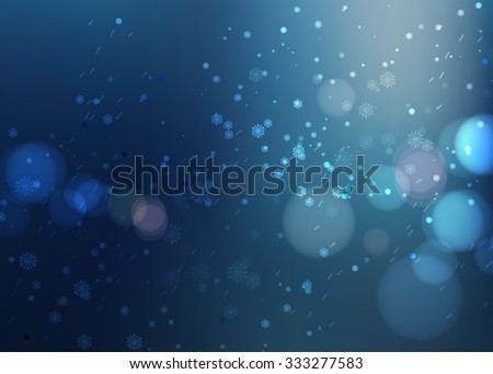 night snow beautiful Christmas background - stock photo