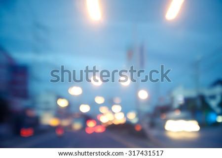 night street blurred background - stock photo