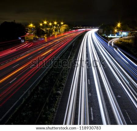 Night Traffic - stock photo