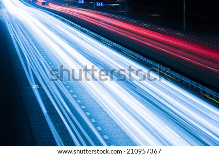Night traffic - stock photo