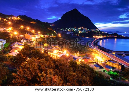 Night view in Taiwan - stock photo