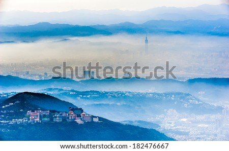 Night with flying clouds - stock photo
