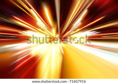 night zoom acceleration motion - stock photo
