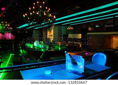 nightclub interior - stock photo