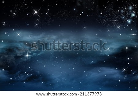 Nightly sky with stars  - stock photo