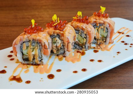 Nigiri Sushi roll - japanese food - stock photo