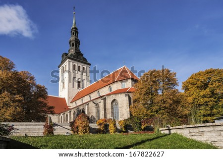 Niguliste church in tallinn, estonia - stock photo