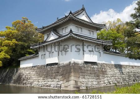 Nijojo temple in Kyoto - stock photo