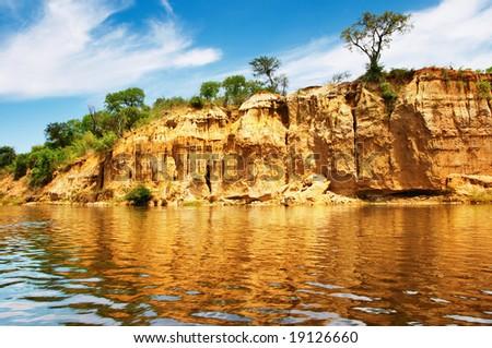 Nile River, Uganda - stock photo