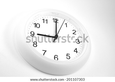 nine o'clock - stock photo