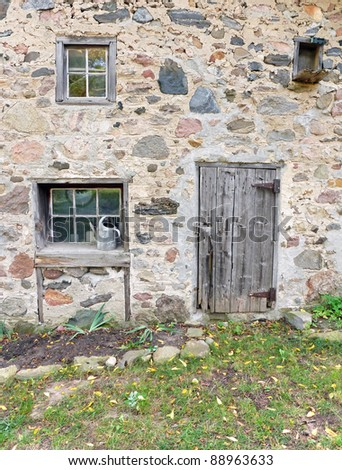 Nineteenth century rustic barn detail - stock photo