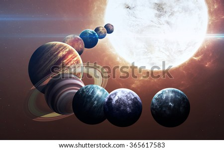 Ninth planet of the solar system opened. New gas giant. Elements of this image furnished by NASA - stock photo