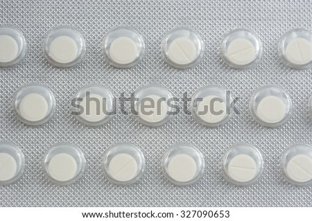 Nitroglycerin Tablets in Pack Close-Up - stock photo