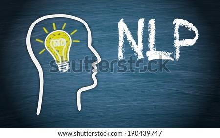 NLP - Neuro-Linguistic Programming - stock photo