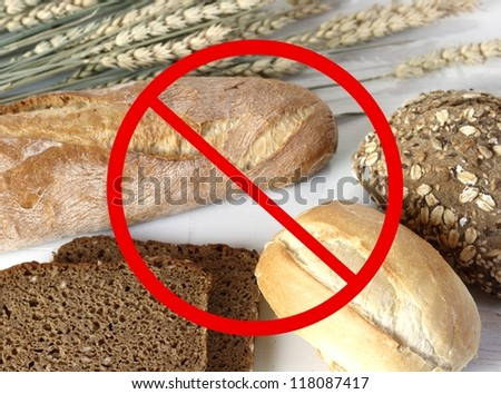 no bread - gluten free - stock photo