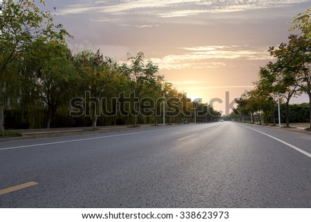 No city road - stock photo