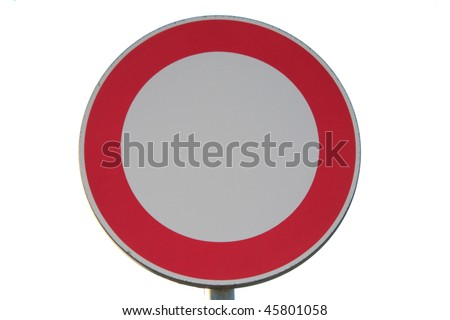 No entry road sign - isolated - stock photo