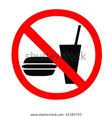 No food and drink allowed sign - stock photo