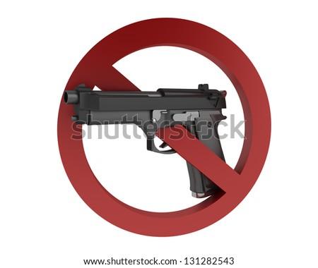 No Gun sign - stock photo