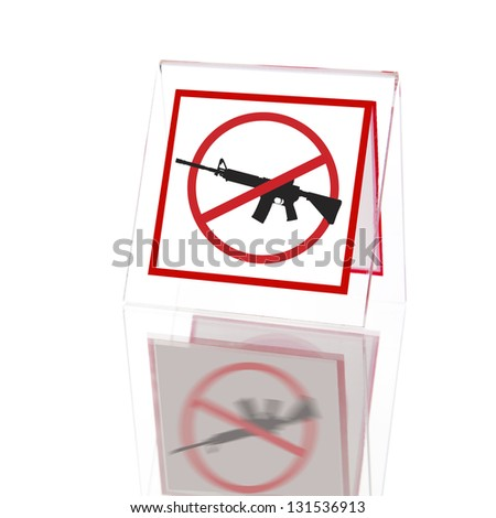 No guns or weapons sign - stock photo