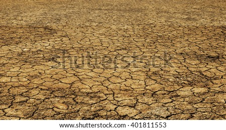 No life in arid soil. - stock photo