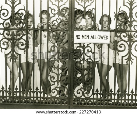 No men allowed - stock photo