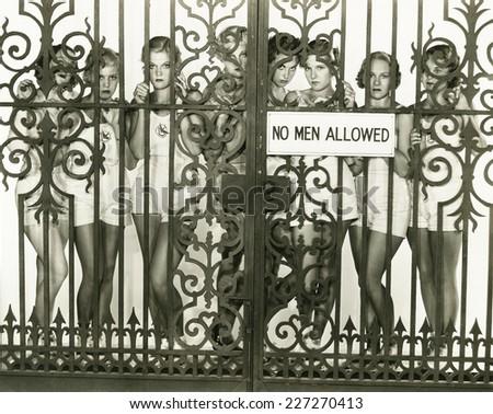 No men allowed - stock photo