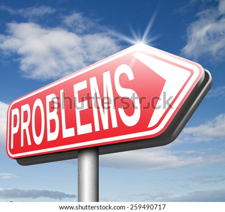no more problems solving them and finding solutions - stock photo
