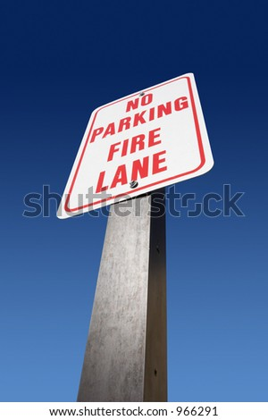 No Parking Fire Lane sign - stock photo